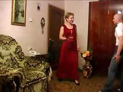 Mature mom sucks and fucks her son