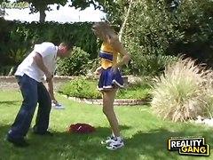 cheerleader hardcore blowjob facial blonde