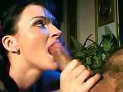 milf anal stockings brunette suck