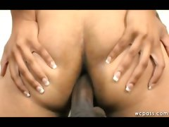  ebony anal blowjob face fuck close up natural ghetto booty ass