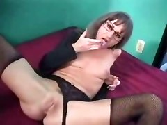 hardcore mature lingerie panties stockings fishnet rubbing pussylicking blowjob doggystyle anal glasses small tits granny couple