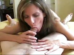 amateur homemade cumshot tight teasing blowjob handjob brunette milf facial swallow pov