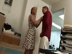 ebony black office coworker cfnm blowjob interracial cumshot cum