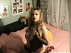 fat chubby fetish fishnet lingerie dildo brunette rubbing hardcore toys large ladies