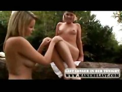 lesbian outdoor fingering pussylicking footfetish