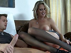 mom  blonde  mature  clothes off  cock ride  wife  housewife  from behind  home  tockings  blowjob  cock ride  on side Bridgett Lee  Bill Bailey