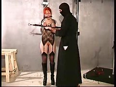 Melany strappado bondage training PART 2
