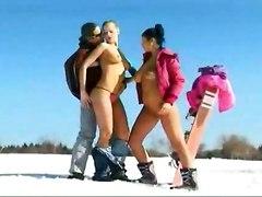 Skiing Naked
