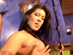 brunette latex fetish ass dancing big tits teasing tattoo piercing anal pussy fingering close up rubbing masturbation blowjob hardcore wet doggystyle riding cumshot latina brazilian