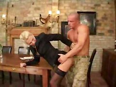 stockings cumshot facial hardcore blonde milf blowjob fingering deepthroat pussylicking table pussytomouth pussyfucking