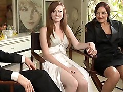lesbian  bride  cute  redhead  long hair  hairstyle  lick  white  tanned  dress  stylish  decorations  lights  
