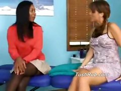 Samanthas Ass Gets Rubbed Deaply With Kaylas Erotic Touch Massage