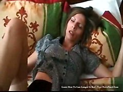 stockings hardcore creampie blowjob brunette pussyfucking