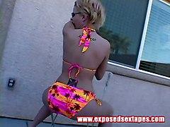 solo blonde teen bikini teasing solo softcor