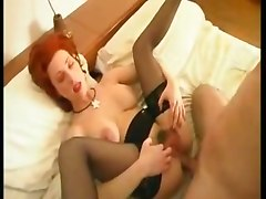 milf big tits stockings anal redhead