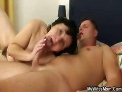 granny mature wife mom riding blowjob handjob