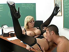 blonde  lingerie  glasses  female teacher  classroom  stockings  black stockings  lingerie  desk  big tits  beautiful tits  at work  moan  lick  penetration  cute  milf  sexy  hot  from behind  beautiful body  beautiful legs Holly Sampson  Danny Mountain