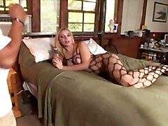 cumshot blonde interracial handjob fishnet bigass fetish femdom facesitting oralsex smother