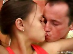 young teen couple fucking in gym room