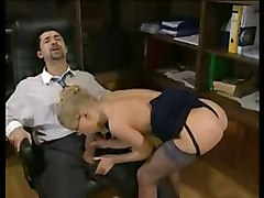 anal stockings cumshot facial blonde blowjob glasses highheels pussyfucking secretary