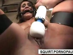 Squirt Bondage Bdsm Hardcore Toy Dildo Machine Brunette FacialHardcore Squirting Brunette