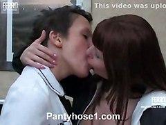 lesbians pantyhose