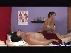 blonde oiled blowjob handjob tattoo titjob tanned massage