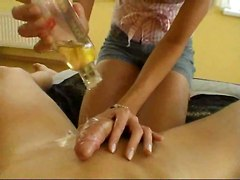 amateur homemade couple handjob blonde cfnm rubbing cumshots pov girlfriend oil blowjob