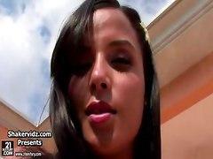 shakervidz latina sashacane brunette babe bigtits solo teen poolside masturbation fingering