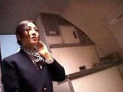 stewardess airplane Japanese Japan handjob cfnm Asian Asians cumshot fantasy kinky