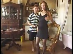 brunette pregnant european tight lingerie stockings blowjob handjob fingering riding doggystyle anal fetish cumshot tittyfuck amateur homemade