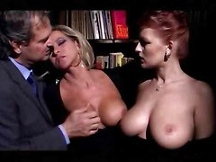 threesome big tits anal hardcore blowjob