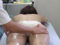 oiled fingering asian hairypussy massage