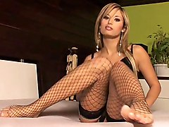 tease  hot  sexy  expose  beautiful body  glamour  stockings  fishnet  lingerie  black lingerie  legs  spread legs  feet  ass  pussy  masturbation  fingering  dildo  close up  fishnet Regina Ice