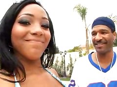 ebony big tits wet brunette bikini big ass dancing blowjob black big dick riding doggystyle tittyfuck creampie pornstar chubby fat