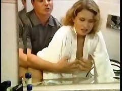 Couple MILF Mom Wife Toys Dildo Big Tits Natural Hardcore Doggystyle Bathroom Shower Wet Tight Teasing Blowjob Riding Facial Cumshot Retro Vintage