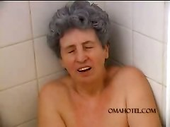 Bathroom Granny Mature Masturbation Toys Fetish