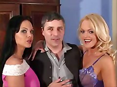 anal threesome tight teasing blonde brunette lingerie pussylicking ass licking european fingering deepthroat double blowjob face fuck gagging handjob riding doggystyle ass to mouth cum swapping cumshot facial