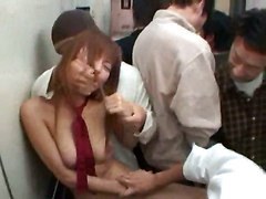 asian gang bang facial handjob blowjob hairy pussy fingering