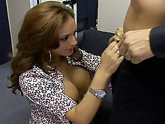brunette  long hair  hairstyle  big tits  cock ride  blowjob  cock ride  sofa Ice La Fox
