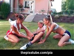 lesbian fingering pussylicking fetish pissing pee piss peeing watersports drinking