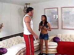 small tits funny brunette latina reality tight panties skinny teasing rubbing kissing pussylicking handjob blowjob big dick riding doggystyle anal ass cumshot facial