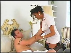 fetish guy fucks shemale lingerie boobs stockings