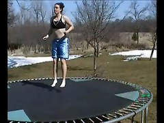 Couple Have Nice Sex On Their Trampoline