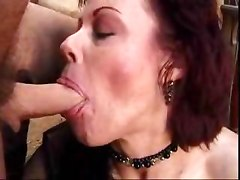 Mature woman sucking her lover