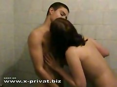 ramming couple blowjob bath tender