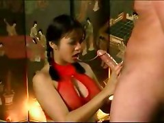 Asian slut deepthroating like a pro   asian slut cumshot blowjob