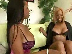 stockings threesome ebony