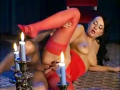 busty milf fucking panties lingerie heels stockings nylons analsex