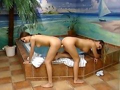 German Lesbian Action Very Hot, Whirlpool,dildo